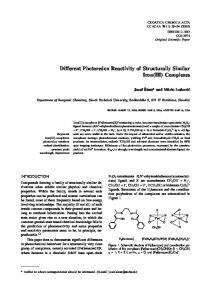Different Photoredox Reactivity of Structurally Similar Iron(III) Complexes