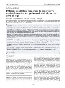 Different ventilatory responses to progressive maximal ... - SciELO