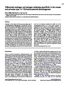 Differential androgen and estrogen substrates specificity in the mouse ...