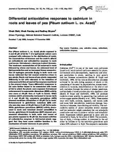 Differential antioxidative responses to cadmium in roots and leaves of ...