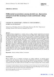 Differential associations among alcohol use ... - Semantic Scholar