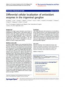 Differential cellular localization of antioxidant ...