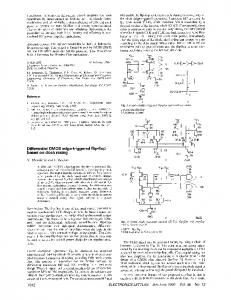 Differential CMOS edge-triggered flip-flop based on ... - IEEE Xplore