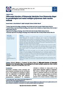 Differential detection of Entamoeba histolytica from ... - Journals