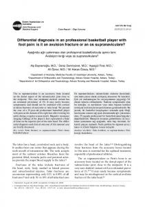 Differential diagnosis in an professional basketball player with foot pain