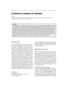 differential diagnosis of psoriasis - Reumatismo