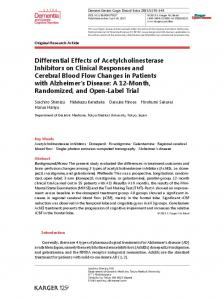 Differential Effects of Acetylcholinesterase Inhibitors on Clinical ...