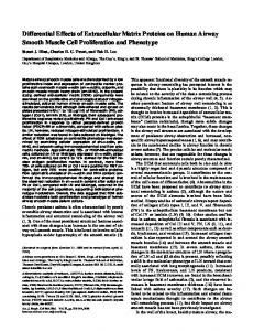 Differential Effects of Extracellular Matrix Proteins ... - Semantic Scholar