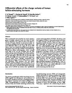 Differential effects of the charge variants of human follicle-stimulating ...