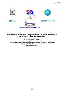 Differential effects of the phonemes on identification of previously