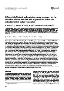 Differential effects of undernutrition during pregnancy on the