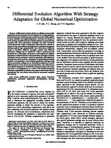 Differential Evolution Algorithm With Strategy Adaptation ... - CiteSeerX