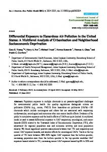 Differential Exposure to Hazardous Air Pollution in the United ... - MDPI