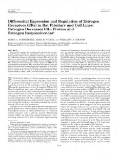 Differential Expression and Regulation of Estrogen Receptors (ERs) in ...