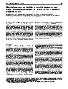 Differential expression and regulation of ryanodine receptor and myo ...