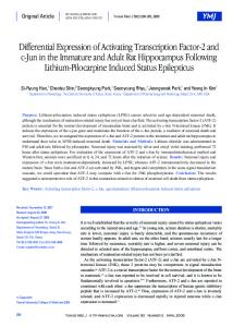 Differential Expression of Activating Transcription Factor-2 and c-Jun ...