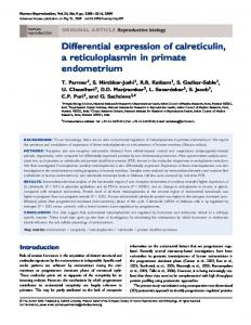 Differential expression of calreticulin, a ... - Semantic Scholar