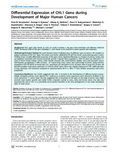 Differential Expression of CHL1 Gene during ...