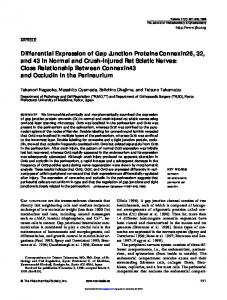 Differential Expression of Gap Junction Proteins ... https://www.researchgate.net/.../Differential-Expression-of-Gap-Junction-Proteins-Con...