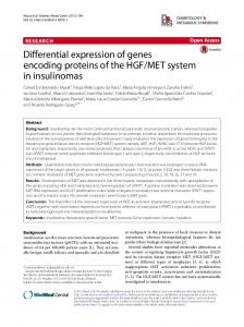 Differential expression of genes encoding proteins of the HGF/MET ...