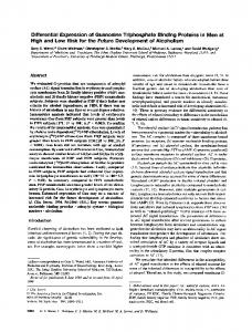 Differential expression of guanosine triphosphate binding proteins in ...