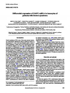 Differential expression of PARP1 mRNA in leucocytes of patients with ...