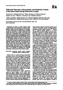 Differential Expression of Sarcoplasmic and