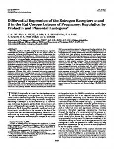 Differential Expression of the Estrogen Receptors and in the Rat ...