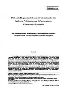 Differential Expression Patterns of Proteins Involved in Epidermal ...
