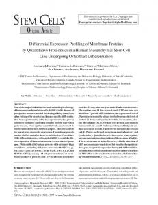 Differential Expression Profiling of Membrane Proteins by Quantitative ...