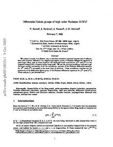 Differential Galois groups of high order Fuchsian ODE's