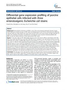 Differential gene expression profiling of porcine ... - BioMedSearch