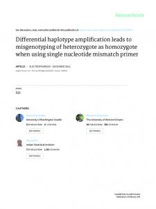 Differential haplotype amplification leads to
