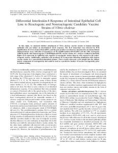 Differential Interleukin-8 Response of Intestinal Epithelial Cell Line to ...