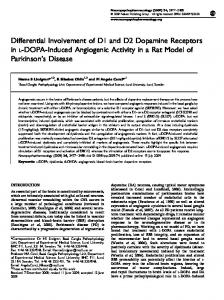 Differential Involvement of D1 and D2 Dopamine Receptors in L ...