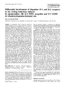 Differential involvement of dopamine D-1 and D-2 receptors in the ...