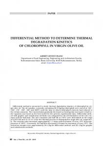 Differential method to determine thermal degradation kinetics of ...