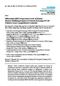 Differential mRNA Expression Levels of Human ... - BioMedSearch
