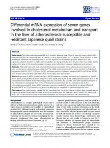 Differential mRNA expression of seven genes involved in ... - Core