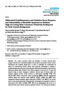Differential Proinflammatory and Oxidative Stress Response ... - MDPI