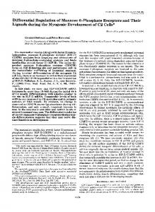 Differential Regulation of Mannose 6-Phosphate Receptors and Their ...