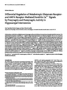 Differential Regulation of Metabotropic Glutamate Receptor- and ...