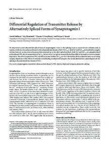 Differential Regulation of Transmitter Release by