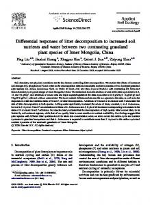 Differential responses of litter decomposition to increased soil ...
