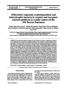 Differential responses of phytoplankton and heterotrophic bacteria to ...