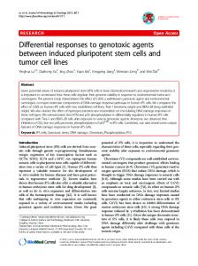 Differential responses to genotoxic agents between ... - BioMedSearch