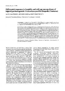 Differential responses to humidity and soil type ... - Wiley Online Library