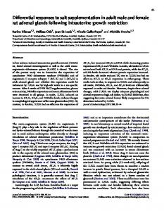 Differential responses to salt supplementation in adult male and ...