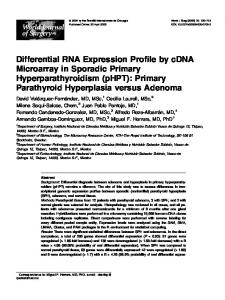 Differential RNA Expression Profile by cDNA ...