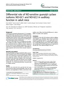 Differential role of NO-sensitive guanylyl cyclase isoforms NO-GC1 ...